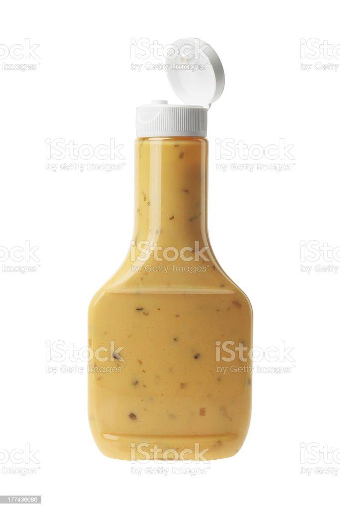 Bottle of Thousand Island Salad Dressing stock photo