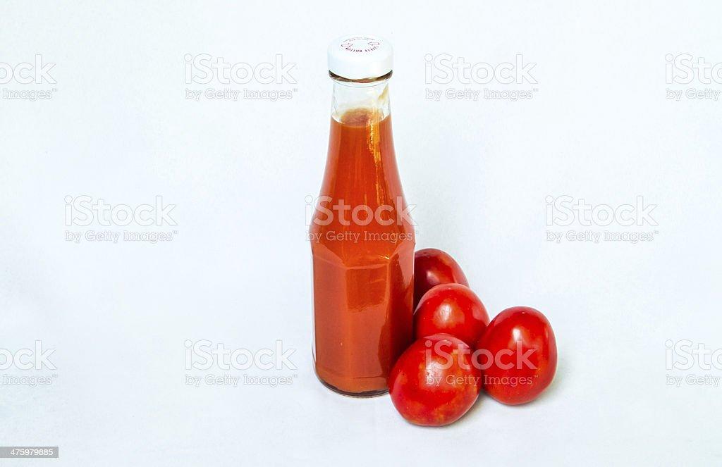 Bottle of tomato sauce royalty-free stock photo