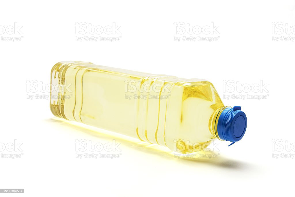 Bottle of Vegetable Oil stock photo