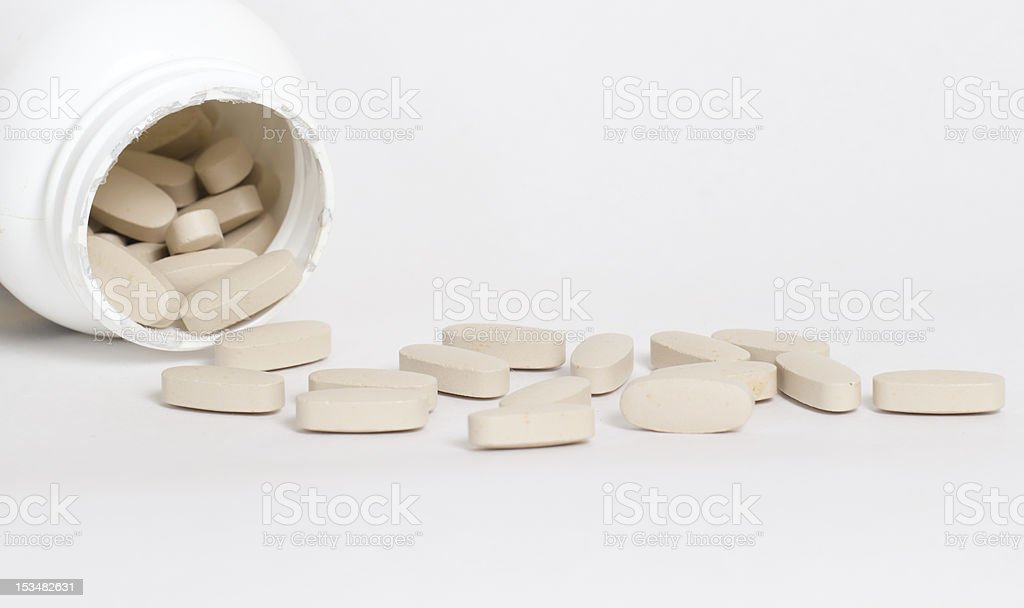 Bottle of Vitamins Macro royalty-free stock photo