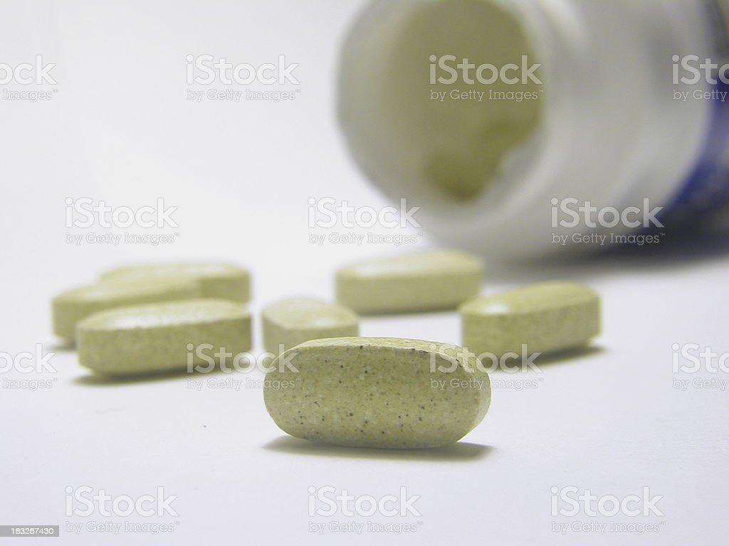 Bottle of Vitamins- Macro (2) stock photo