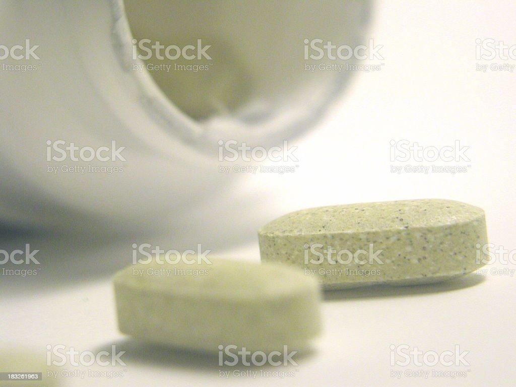Bottle of Vitamins royalty-free stock photo