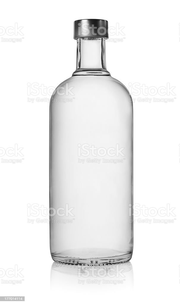 Bottle of vodka isolated stock photo