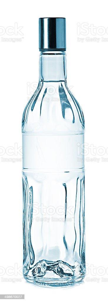 Bottle of vodka stock photo