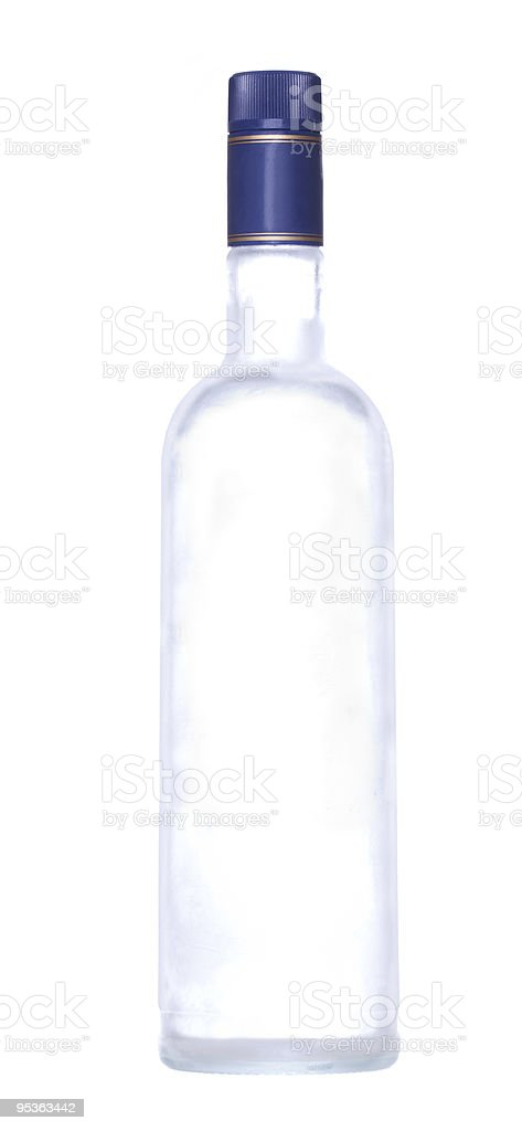 bottle of vodka stock photo