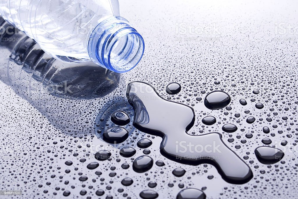 Bottle of water stock photo