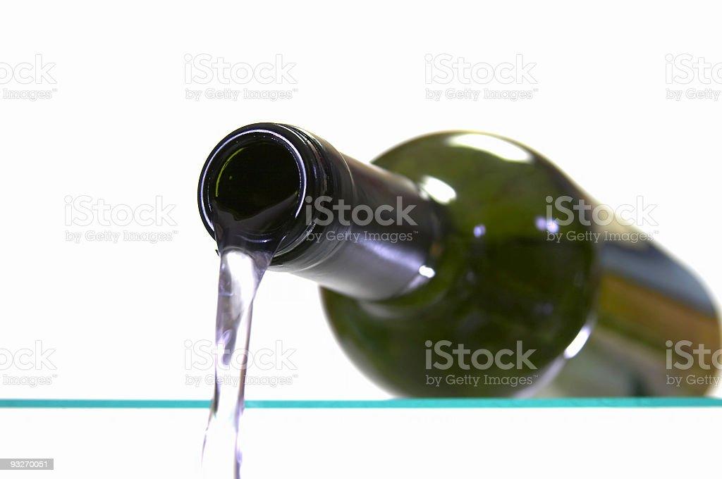 Bottle of White royalty-free stock photo