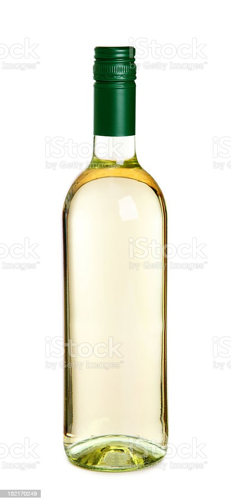 Bottle of white wine royalty-free stock photo