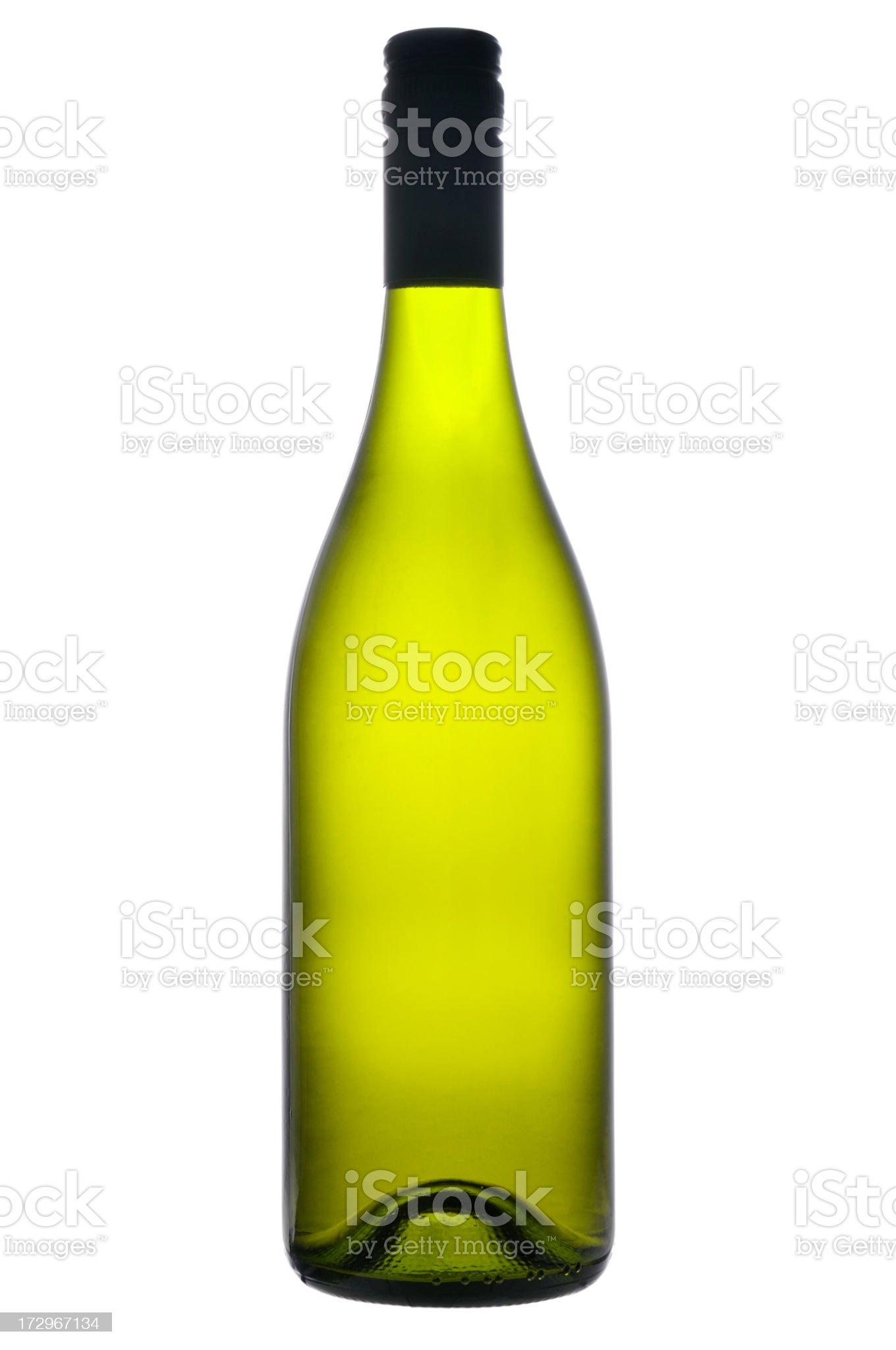 Bottle of white wine royalty-free stock photo