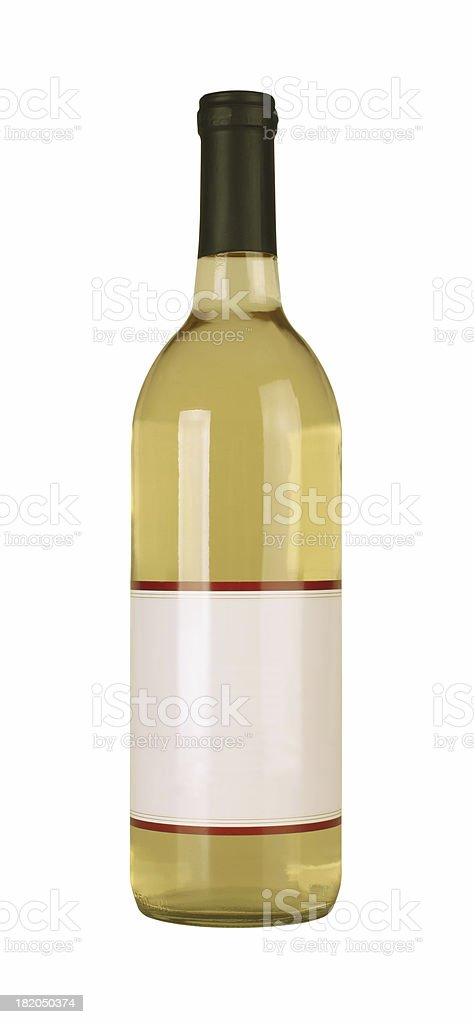 Bottle of White Wine stock photo