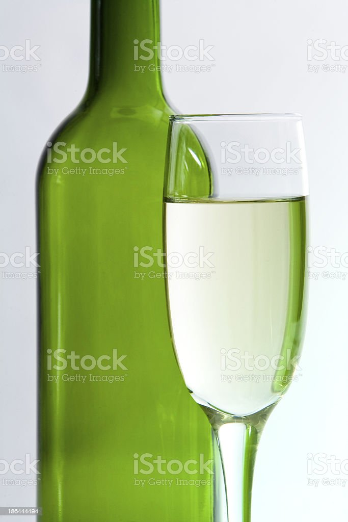Bottle of wine and Cup royalty-free stock photo