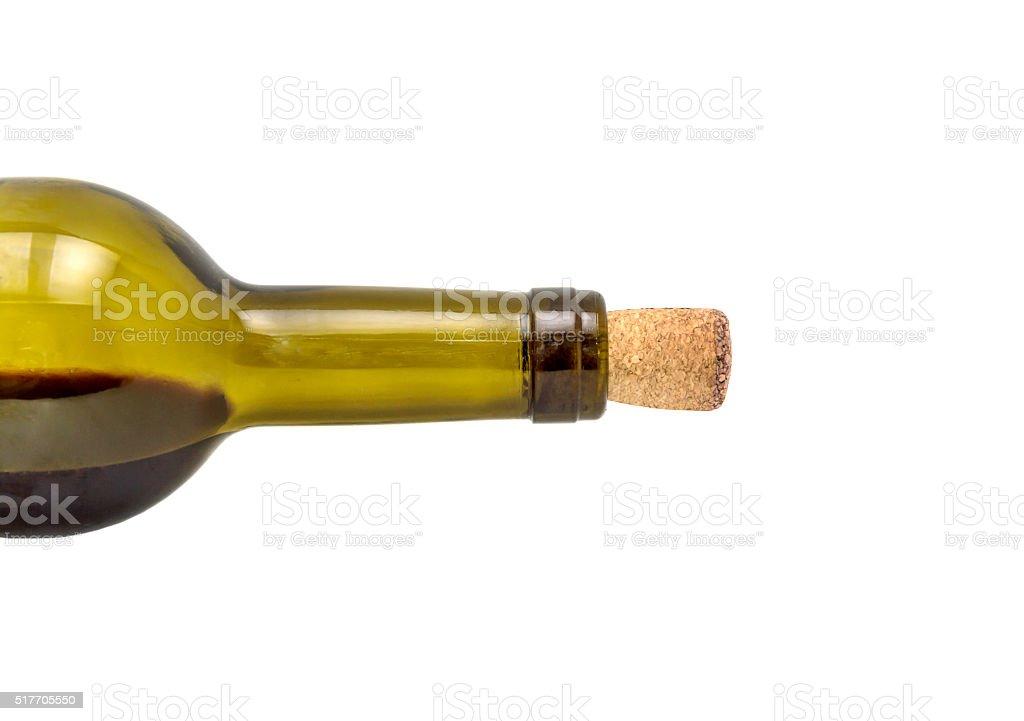 Bottle of wine isolated on white stock photo