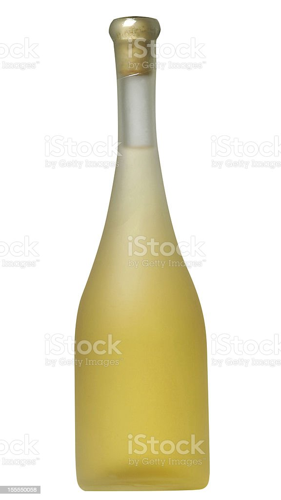 Bottle of wine isolated over white background royalty-free stock photo