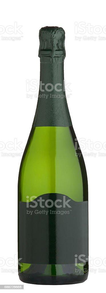 Bottle of wine isolated stock photo