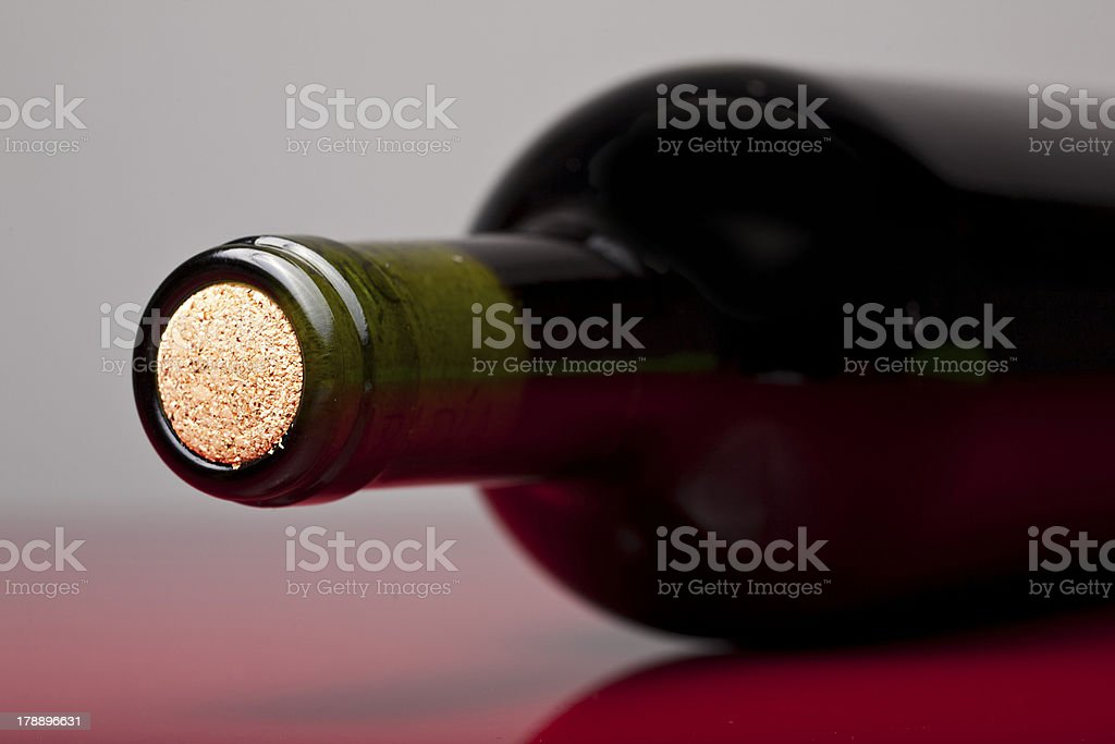 Bottle of wine royalty-free stock photo