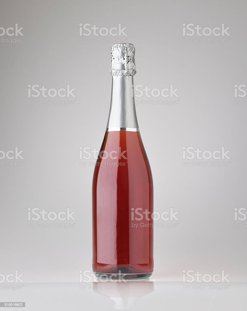 Bottle of wine rosé unbranded stock photo