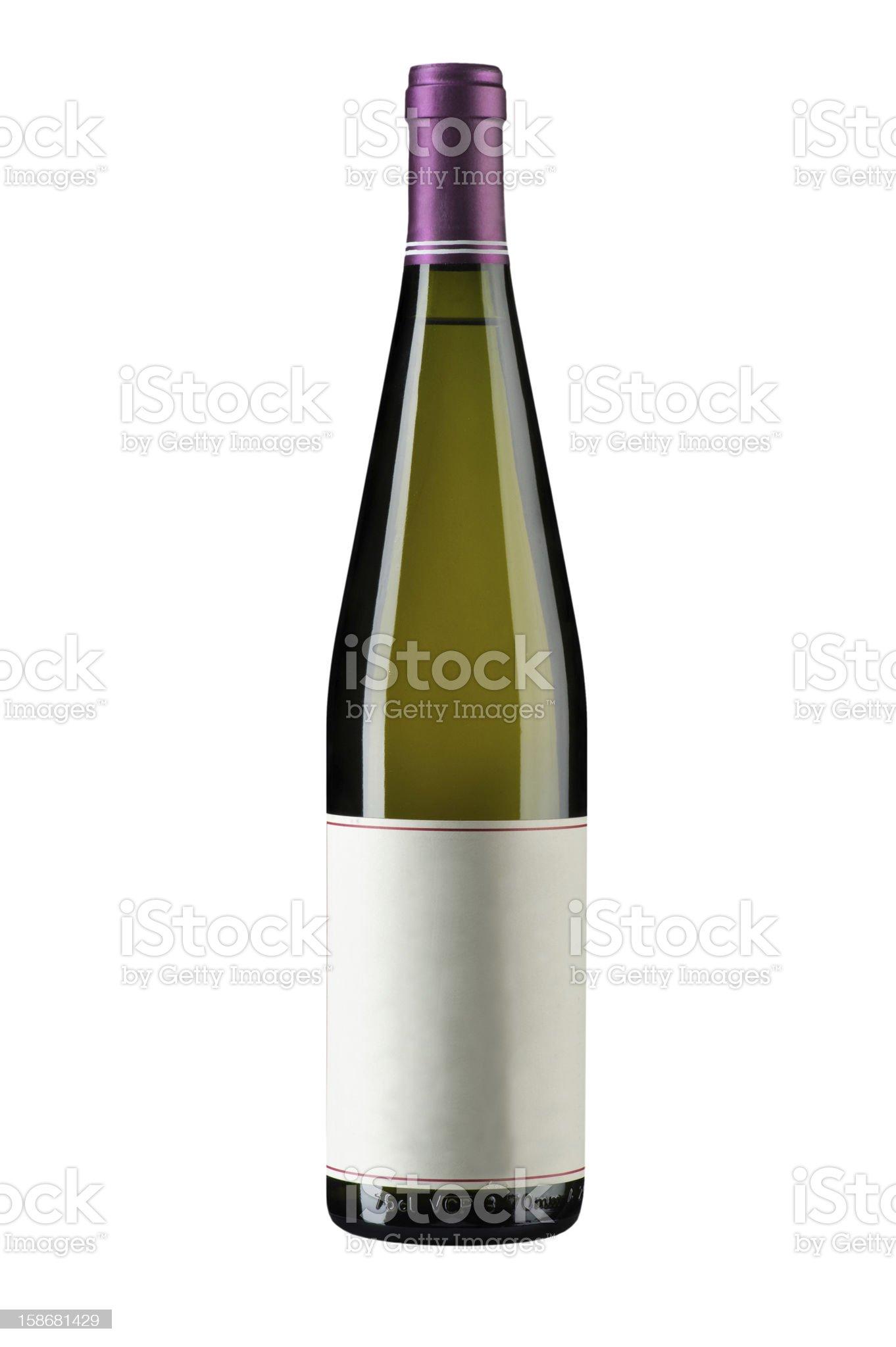 bottle on white royalty-free stock photo