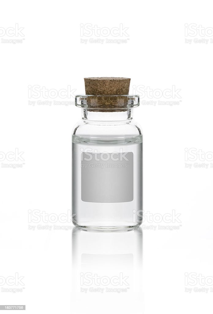 Bottle (Clipping Path) stock photo