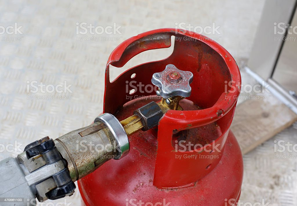 LPG Bottle stock photo