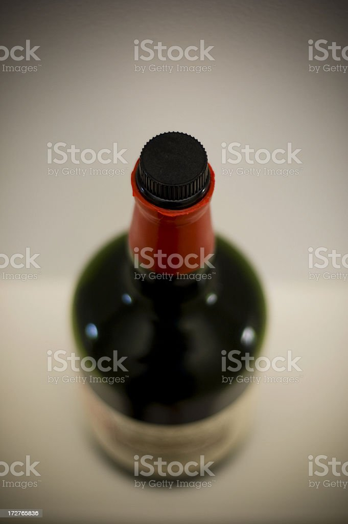 Bottle port rum wax seal red shallow depth of field. royalty-free stock photo