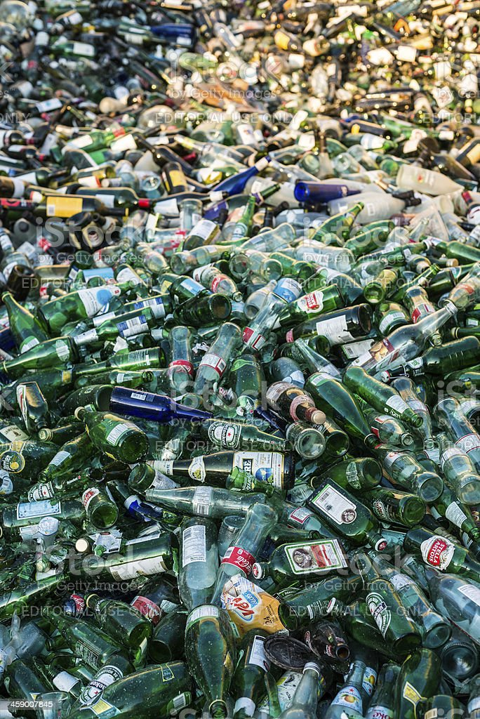 Bottle Recycling stock photo