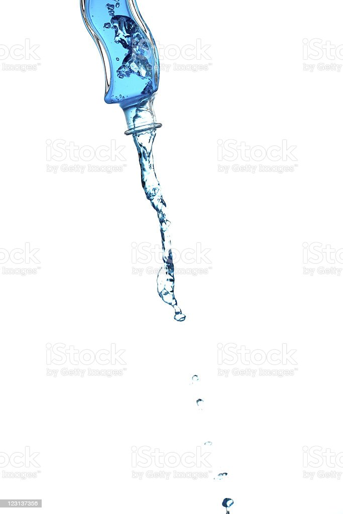 Bottle splash royalty-free stock photo