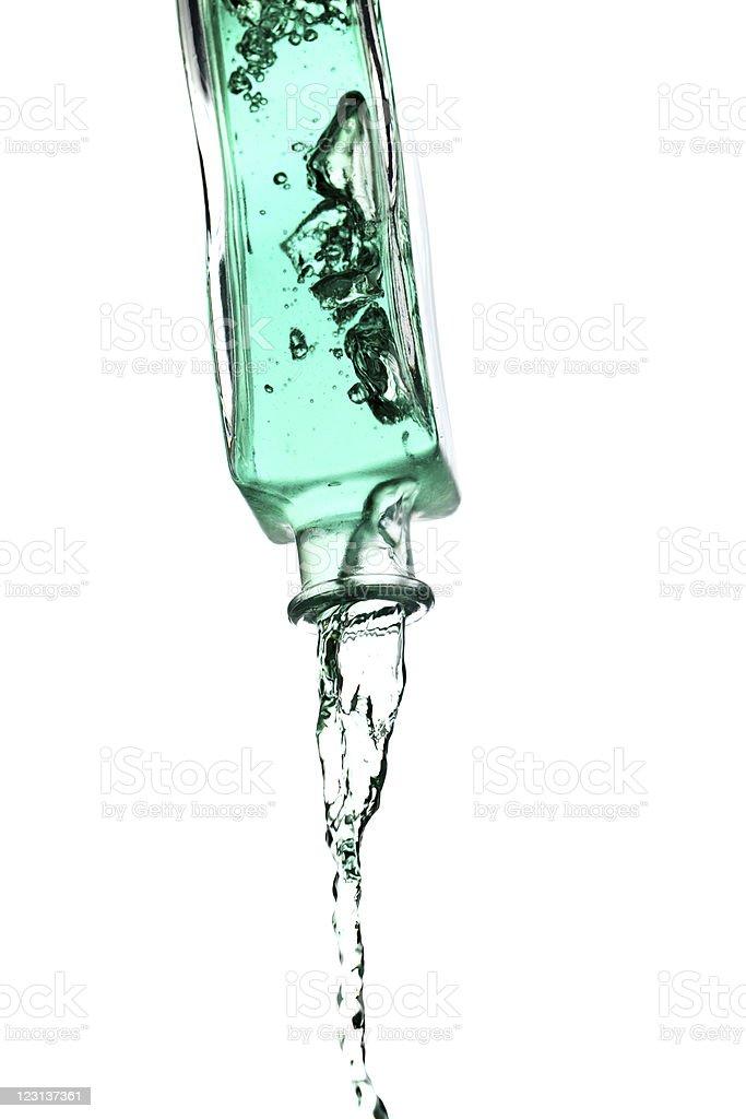 Bottle splash stock photo