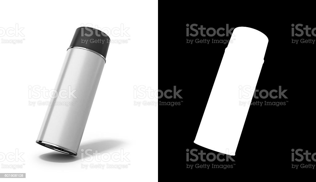 bottle spray paint or automotive grease white 3d render stock photo