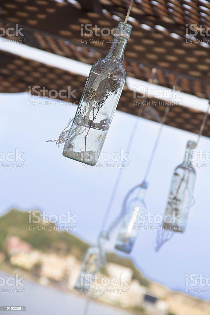bottle whit landescape stock photo