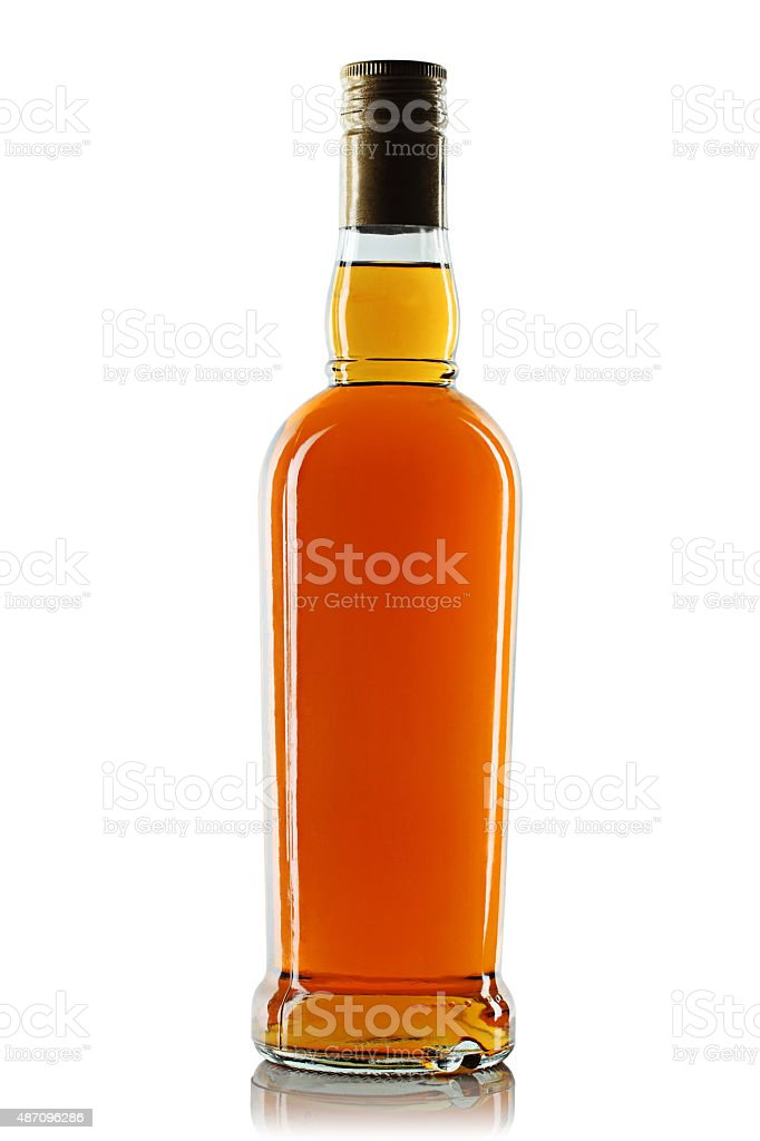 Bottle with alcohol stock photo