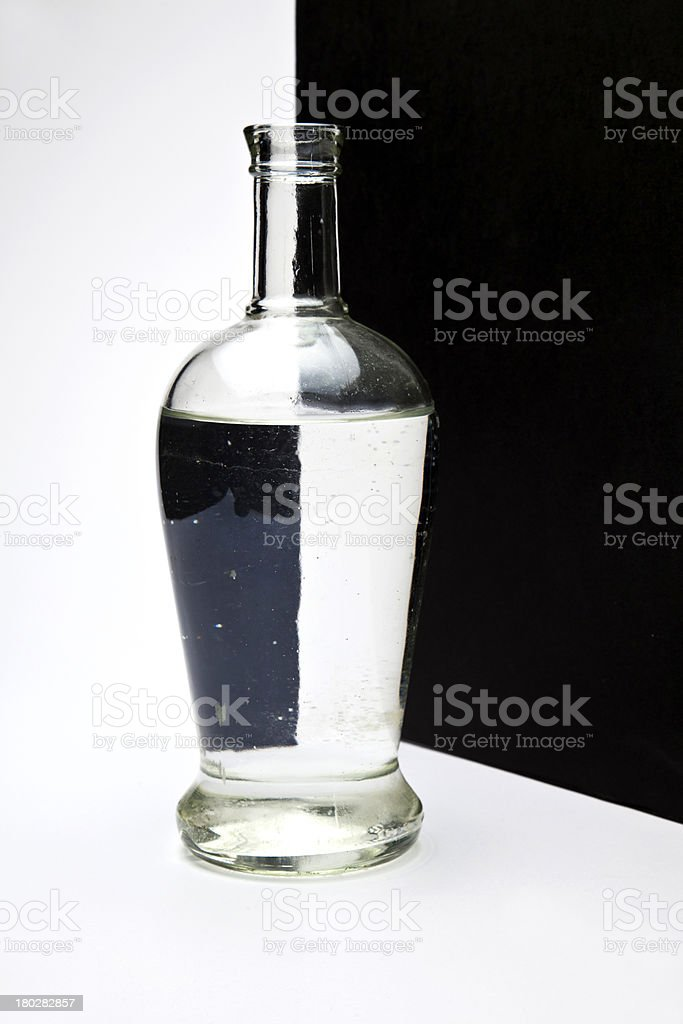 bottle with black and white pattern royalty-free stock photo