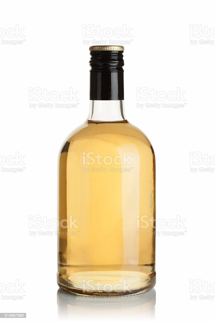 bottle with drink stock photo