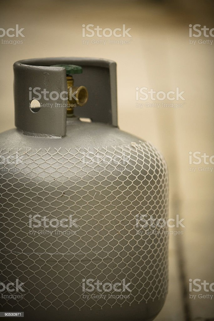 LPG Bottle with Green Tap stock photo