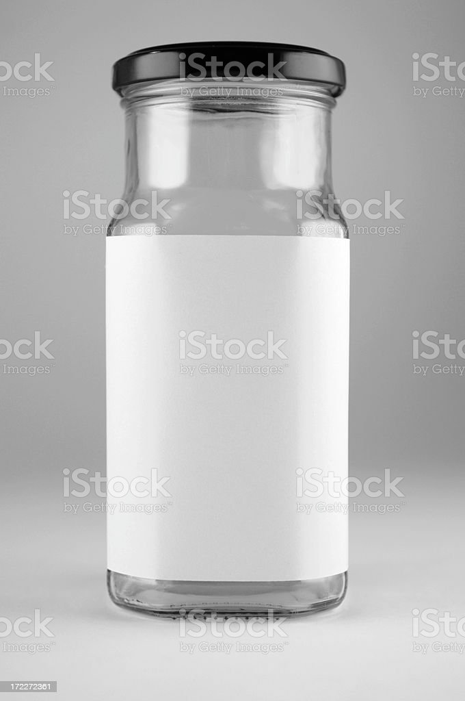 bottle with label add text royalty-free stock photo