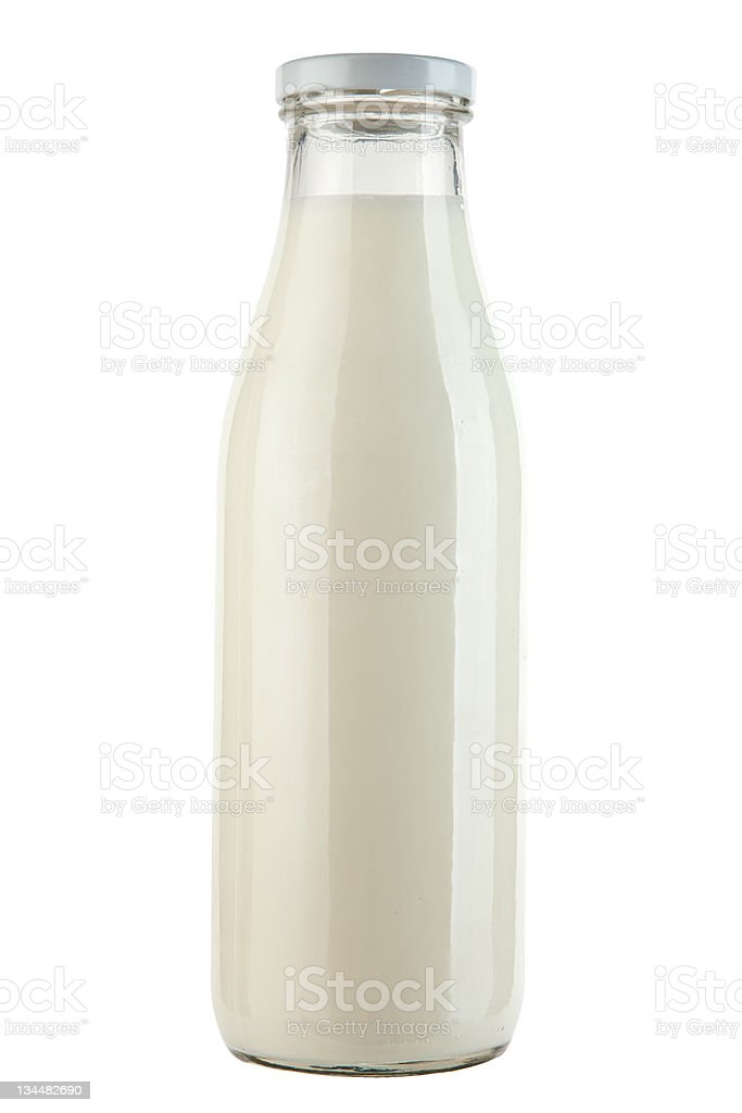 Bottle with milk royalty-free stock photo