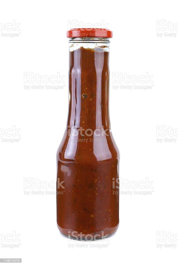 Frasco com picante ketchup foto de stock royalty-free
