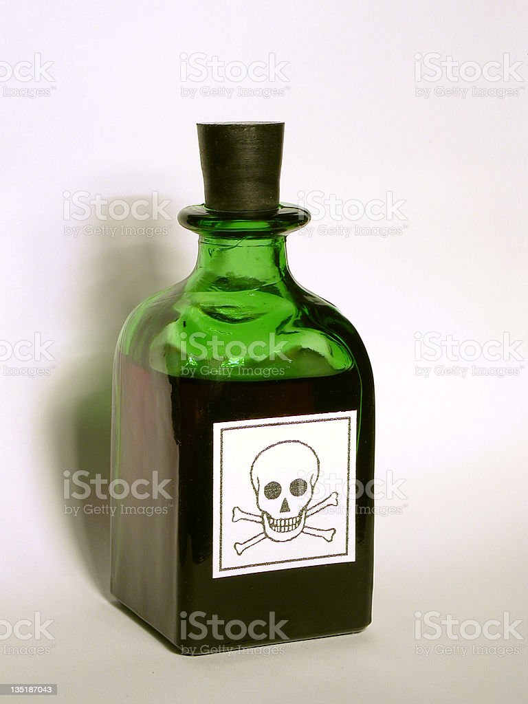 Bottle with Poison royalty-free stock photo