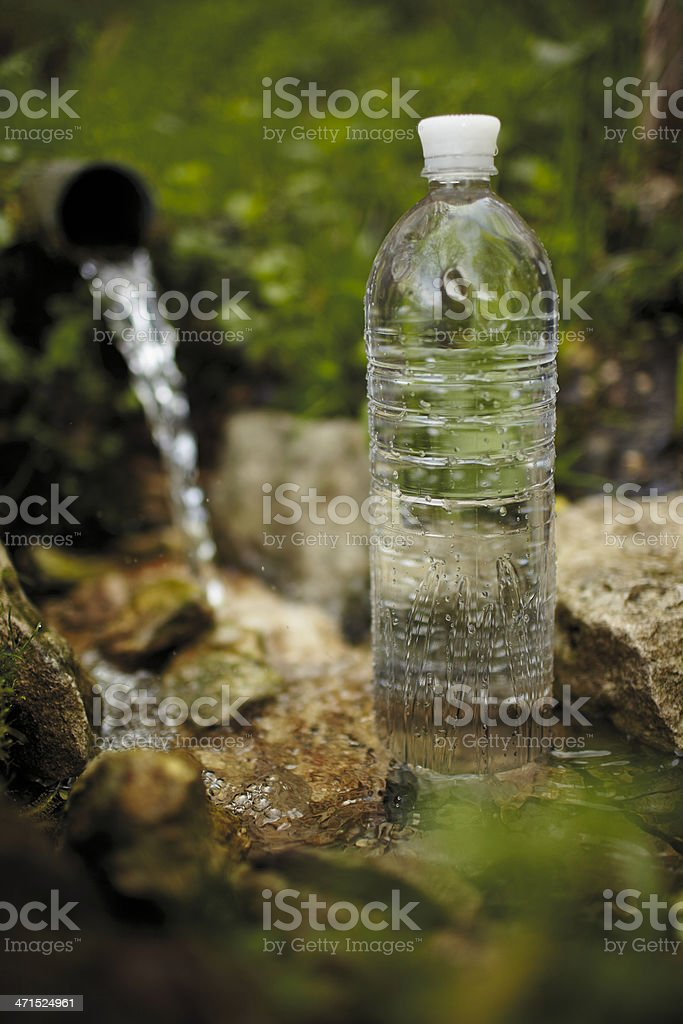 Bottle with water stock photo