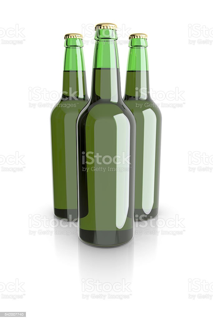 Bottled beer green colors. royalty-free stock photo