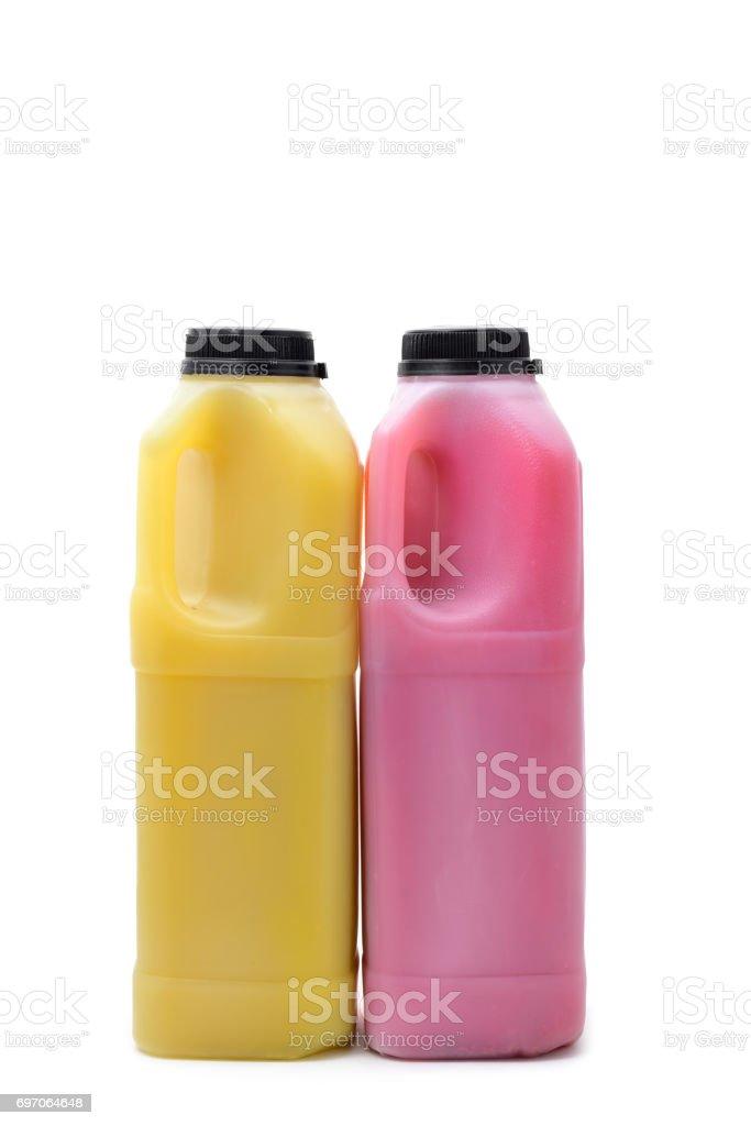 bottled juice stock photo