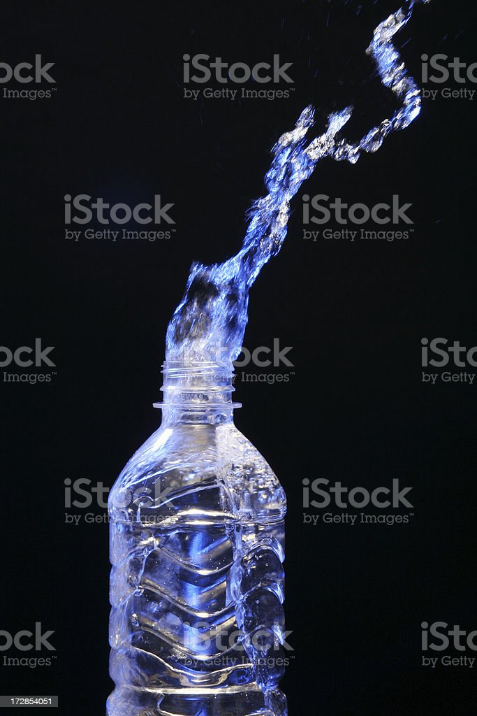 Bottled Water Splash royalty-free stock photo