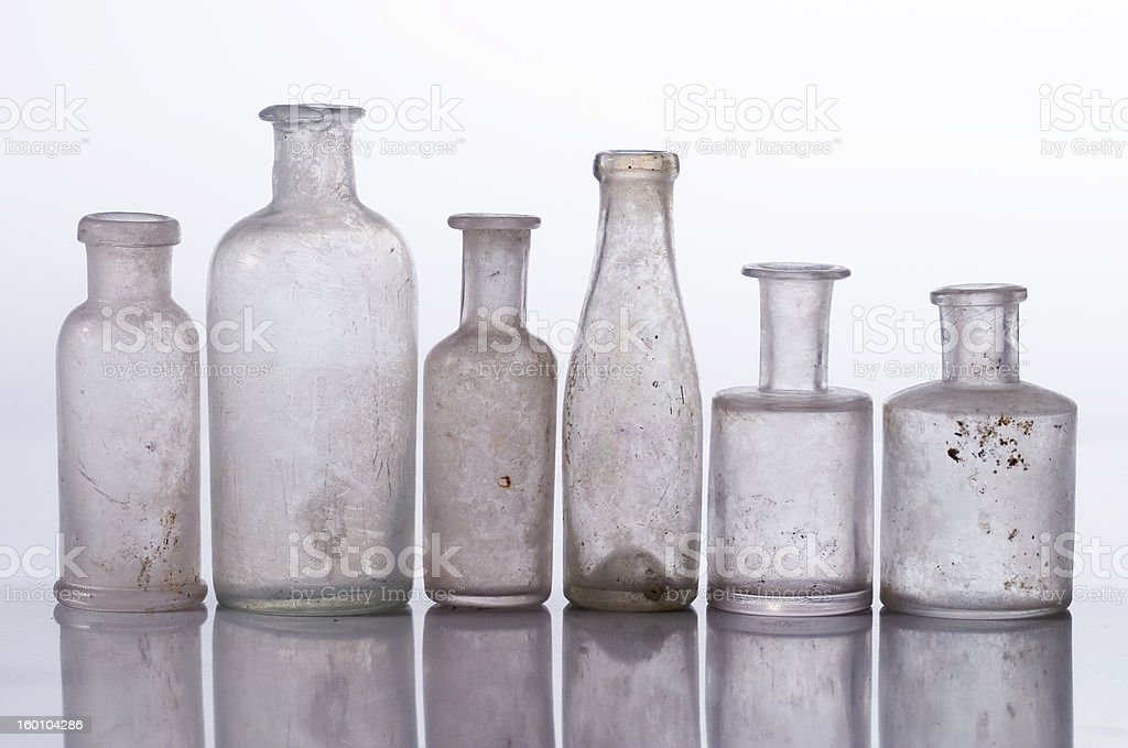 bottles in a row royalty-free stock photo