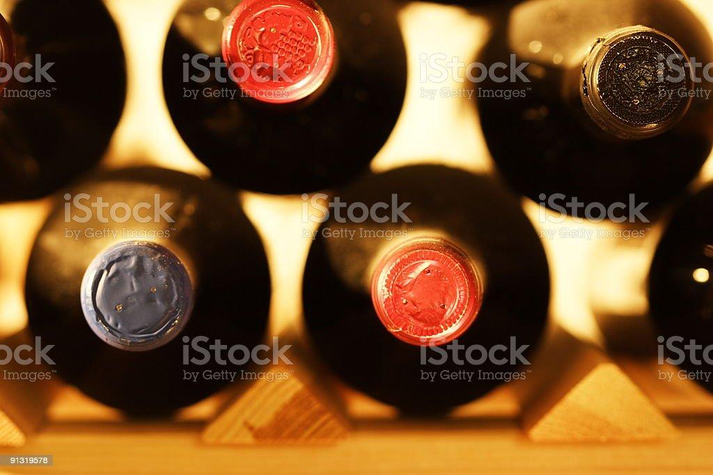 bottles in a shelf royalty-free stock photo