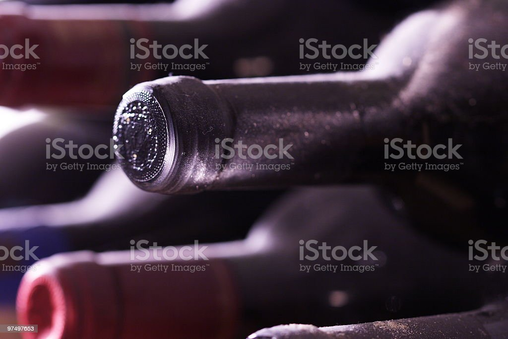 bottles in a shelf royalty-free stock photo