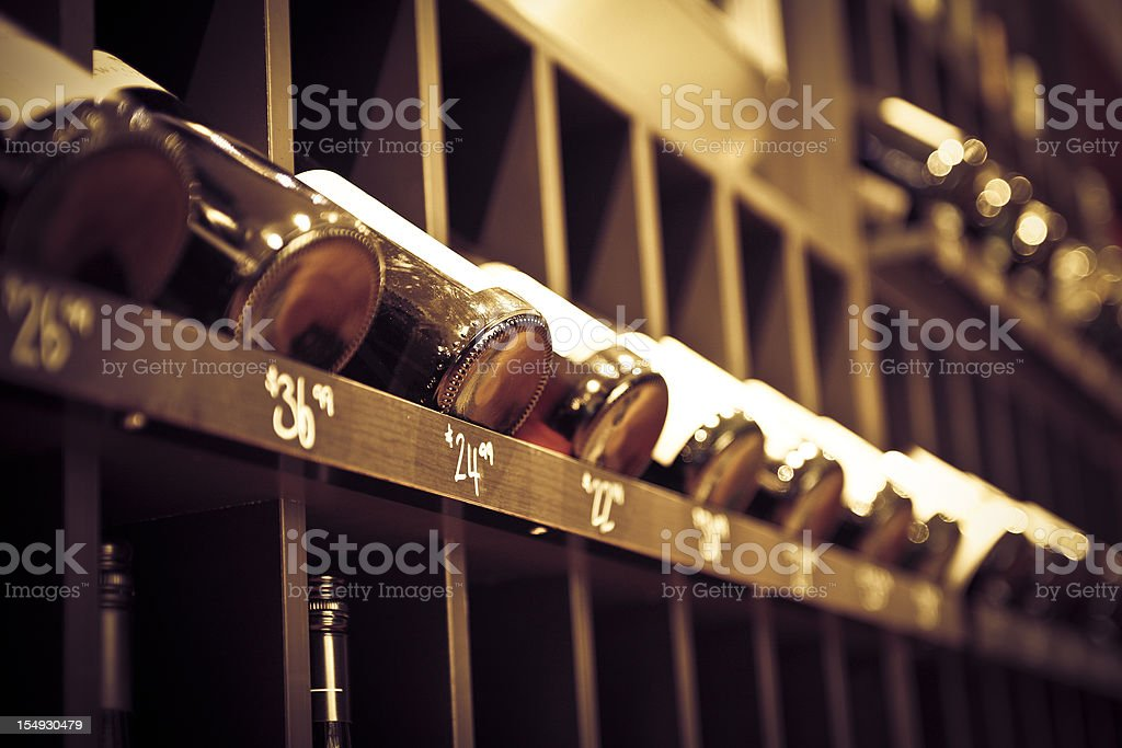 Bottles in Cellar royalty-free stock photo