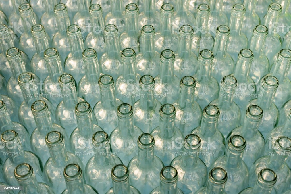 Bottles in Row. stock photo