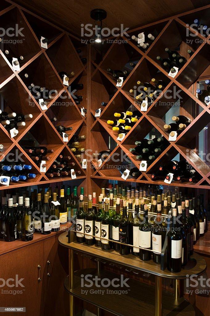 Bottles In Wine Shop stock photo