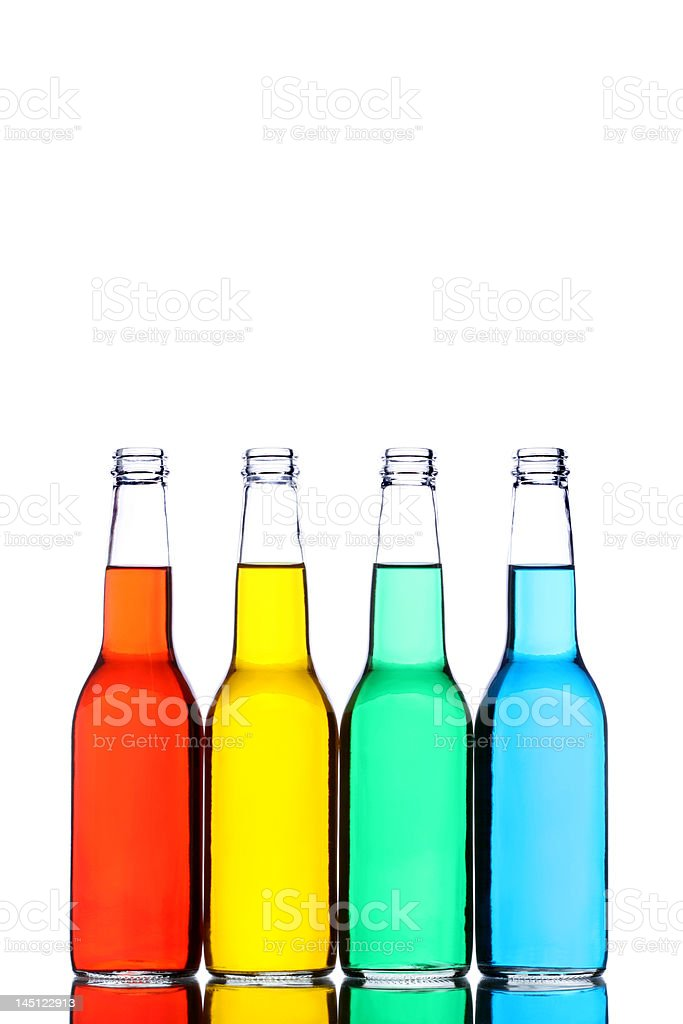 bottles isolated on white royalty-free stock photo