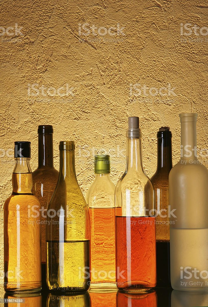 Bottles of alcohol royalty-free stock photo