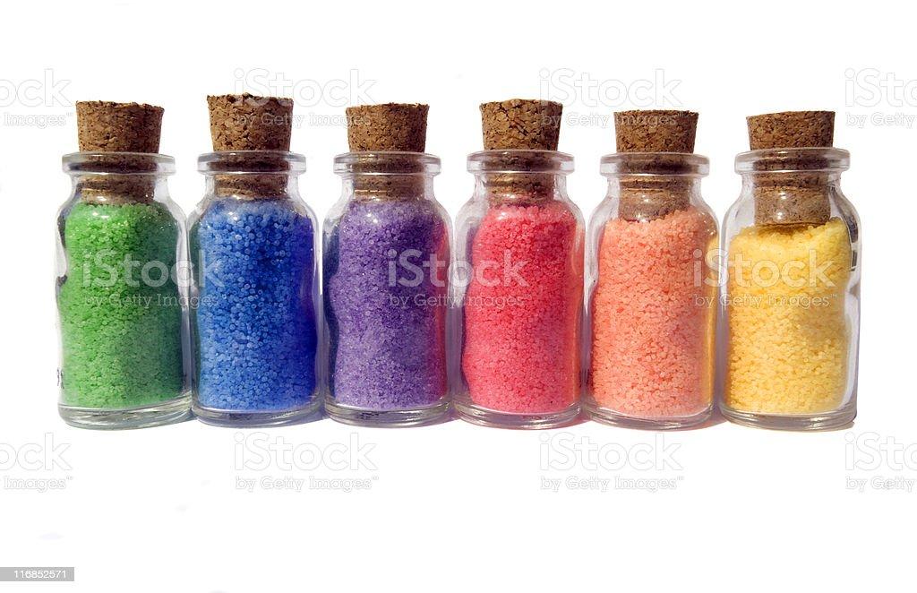 Bottles of Colour stock photo